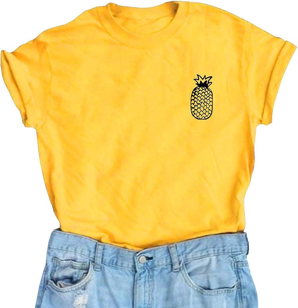YITAN Women Cute Graphic T Shirts Teen Girls Summer Funny Tops
