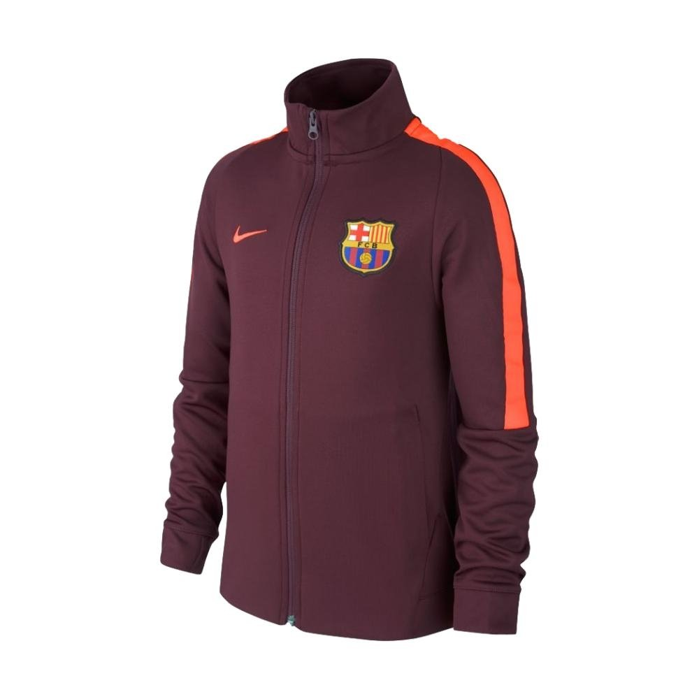 2017-2018 Barcelona Nike Authentic Franchise Jacket (Night Maroon) Kids B076CGCP62Maroon MB 27-29\