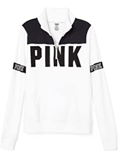 e7b84084 Amazon.com: Victoria's Secret PINK Perfect Quarter Zip Pullover ...