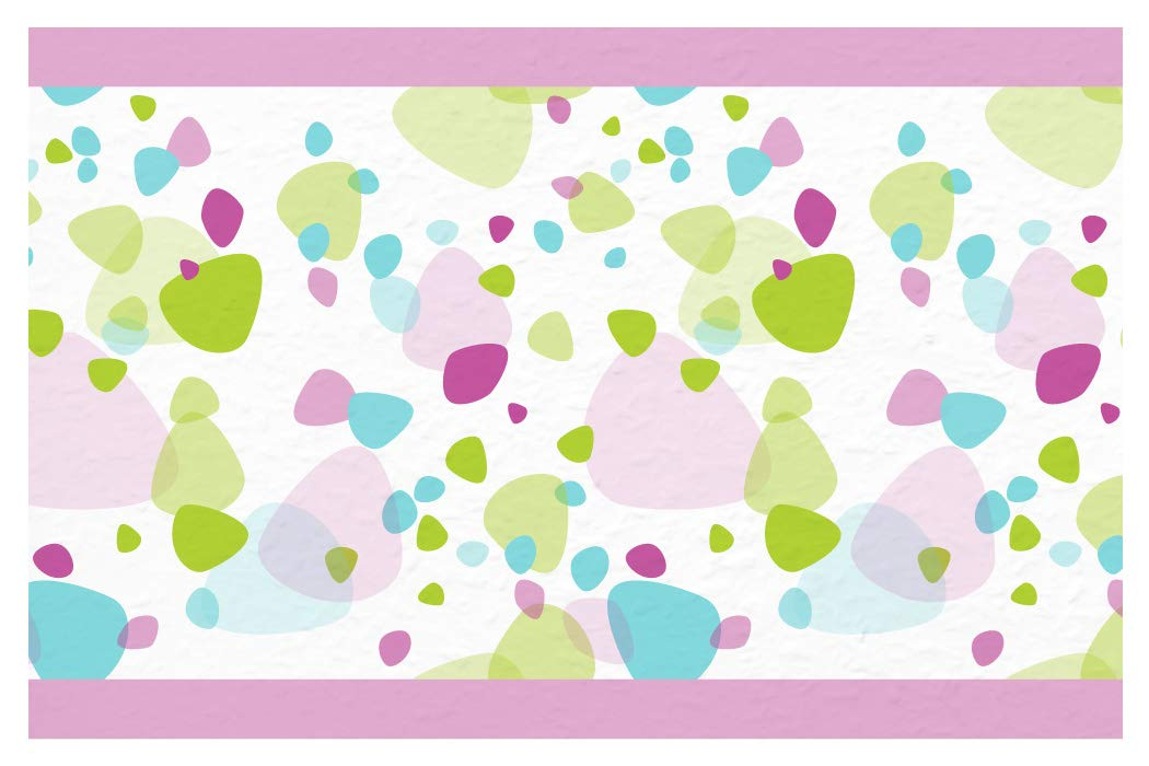 I-love-Wandtattoo b-10149 - Bordo decorativo adesivo da parete, Pietre colorate in viola, blu e verde, la camera dei bambini, 5m, stripes carta da parati, decorazioni per bambini