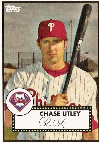 Philadelphia Phillies Mlb Card (2008 Topps Trading Card History # TCH34 Chase Utley - Philadelphia Phillies - MLB Baseball Trading)