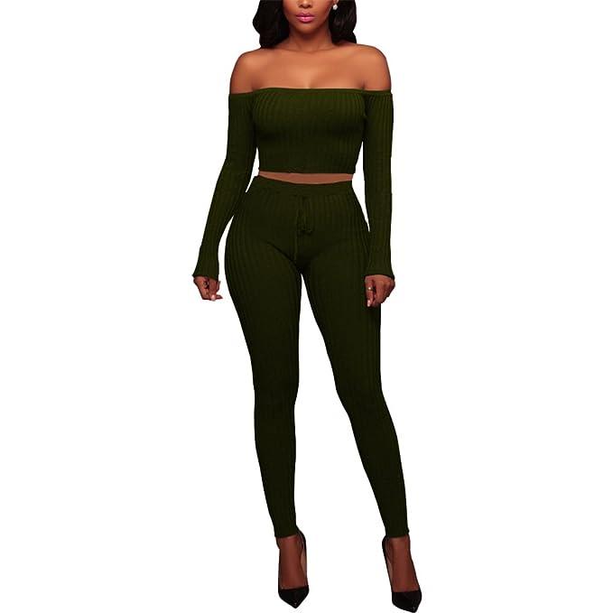 Amazon.com: De la Mujer Sexy Jumpsuit trajes de dos piezas ...