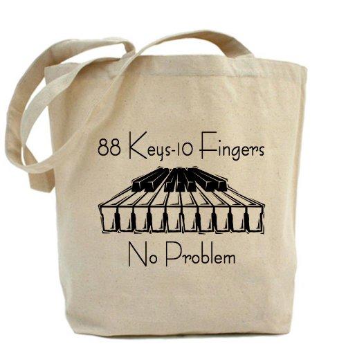 CafePress–Piano–Gamuza de bolsa de lona bolsa, bolsa de la compra