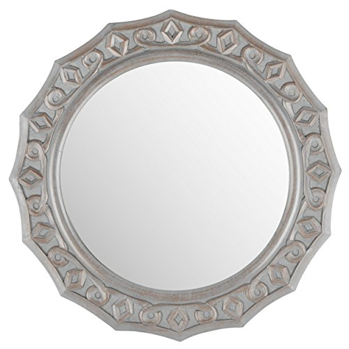 Safavieh Home Collection Gossamer Lace Mirror, Grey by Safavieh