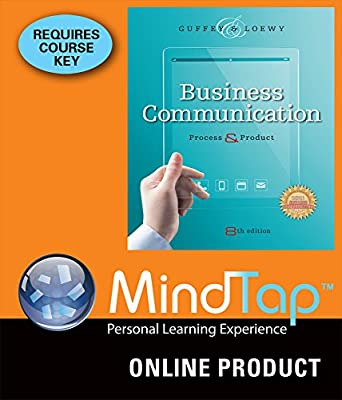 MindTap Business Communication for Guffey/Loewy's Business Communication: Process and Product, 8th Edition