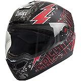 Steelbird Helmet SBA-1 Free Live (Medium, Black and Red)