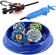 Roytil Bey Battle Burst Metal Fusion Battling Tops with 4D Launcher Grip Battle Set