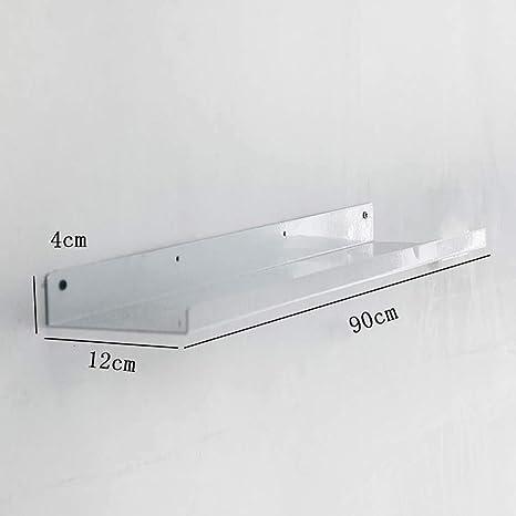 Wawa Estantes Flotantes Estante de Exhibición Industrial de La Tienda del Almacenamiento de La Pared del Estante del Metal Moderno Montado en La Pared (Color : Blanco, Tamaño : 90cm): Amazon.es: Hogar