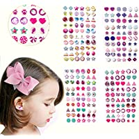 Augsun 240 Piece Sticker Earrings 3D Gems Sticker Girls Sticker Earrings Self-Adhesive Glitter Craft Crystal Stickers
