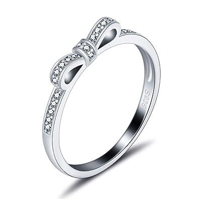 Amazon.com  925 Sterling Silver Bow Ring 5dbd9f196f