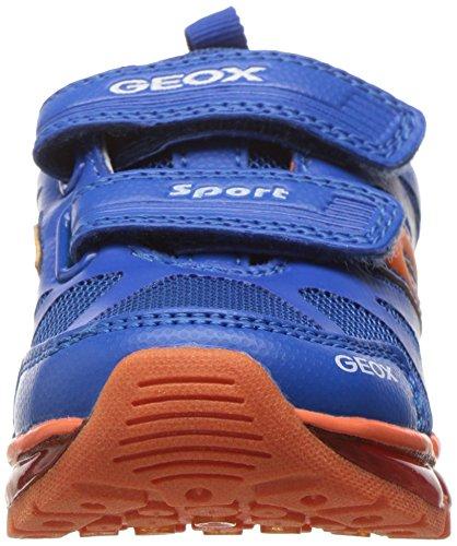 Geox J Android C, Zapatillas Para Niños Azul (Royal/orangec0685)
