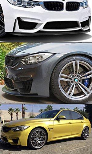 FOR 2015-2018 BMW F80 M3 F82 F83 M4 FRONT BUMPER CHIN LIP SPLITTER URETHANE BLK