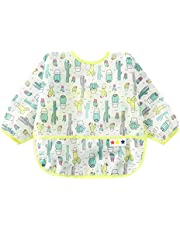 Jojck Waterproof Long Sleeve Baby Toddler Painting Feeding Smock Bib Apron Children Cartoon Top