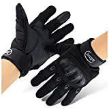 #3: JUTGO Tactical Military Motorcycle Gloves, Hard Rubber Knuckle Full Finger Gear, Cycling, Paintball & Outdoor Sport, Black