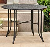 International Caravan 657100-OG-165262-O-852746 Iron Outdoor Patio Dining Table, 40'', Antique Black
