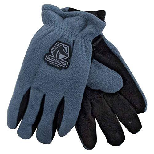 Gray Black Stallion Fuzzy Hand Gloves, Size XX-Large (Fuzzy Hands Gloves)