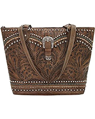 American West Leather Shoulder Bag Purse