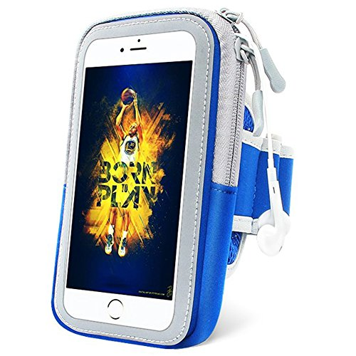 iPhone 6 6S Plus Sports Armband,Yomole Outdoor Running CellPhone Sweatproof Case with Key Holder and Card Pouch for iphone 6 6s Plus 5s 5c se Samsung Galaxy Note 5 4 3 Note Edge S4 S5 S6 S7 edge plus