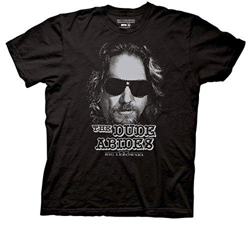 Ripple Junction Men's Lebowski Dude Abides T-Shirt-Black (X-Large)