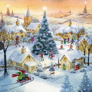 Medici Luxury Christmas Cards Med9247 Winter Scenes 16 Cards 2