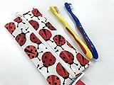 Ladybug Travel Utensil Case Kids Travel Toothbrush Case
