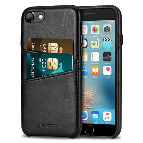 (TENDLIN Compatible with iPhone 7 Case/iPhone 8 Case Wallet Design Premium Leather Case with 2 Card Holder Slots Compatible with iPhone 7 / iPhone 8)
