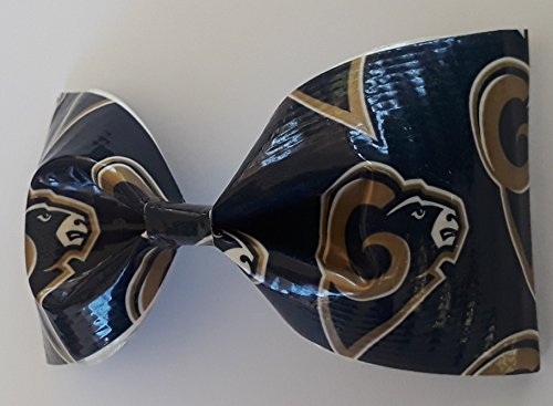 Los Angeles Rams NFL Duct Tape Bobby Pin Hair Bow or Bow Tie -