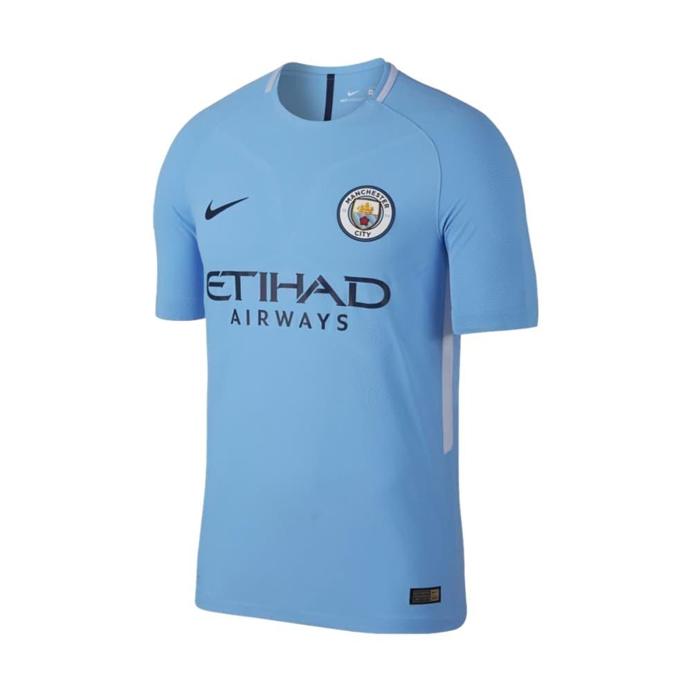 Nike 2017-2018 Man City Vapor Home Match Football Soccer T-Shirt Trikot