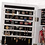 8 LED Lights Lockable Full mirror jewelry organizer