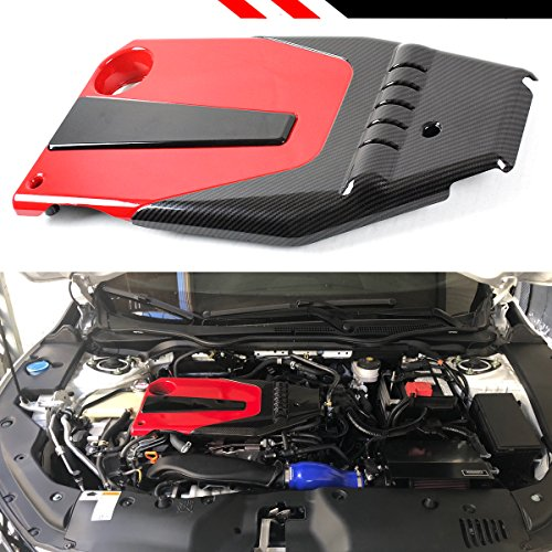 JDM Red Black Type-R Style Engine Valve Cover Fits for 2016-2018 10TH Gen Honda Civic