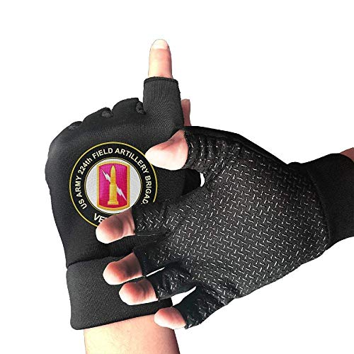 FANRENYOU US Army 6th Infantry Division Unit Crest Veteran Cycling Gloves Workout Gloves Biking Riding Gym Orts