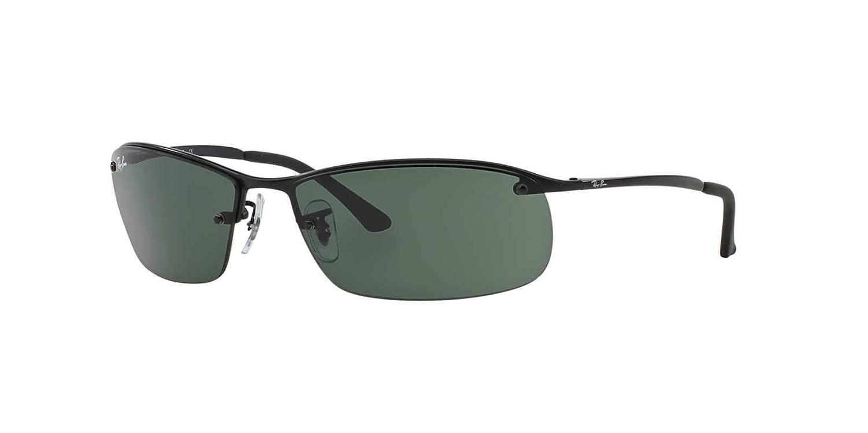 Ray-Ban Mens RB3179 Rectangular Metal Sunglasses