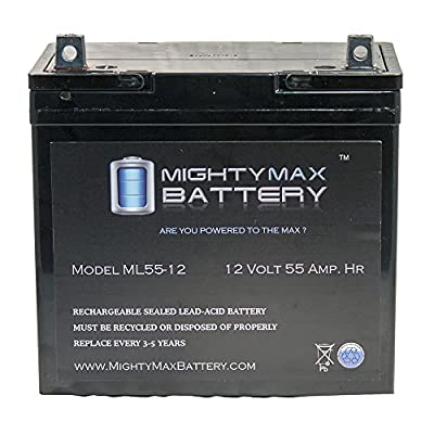 Best Cheap Deal for 12V 55Ah Power Boat Pontoon Electric Trolling Motor Deep Cycle Battery - Mighty Max Battery brand product from Mighty Max Battery - Free 2 Day Shipping Available