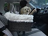 Lookout Dog Cat Car Seat - Pet Safety Booster Seats - Soft Sheepskin Lining Bed
