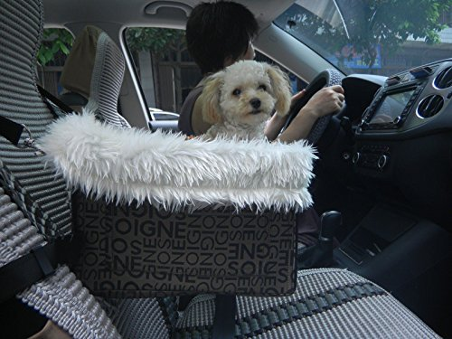 Lookout Dog Cat Car Seat - Pet Safety Booster Seats - Soft Sheepskin Lining Bed by Destinie