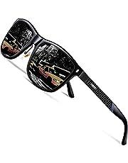 ATTCL Men's Driving Polarized Sunglasses Al-Mg Metal Frame Ultra Light