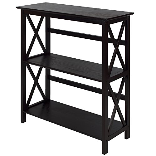 Montego 3-Shelf Bookcase-Espresso