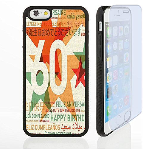 Prunus Custom design Supreme iphone 6/6s 7 case 60th Birthday Decorations World Cities Birthday Party with Abstract Stars Green Vermilion and White Customized Premium plastic phone (Party City Ma)