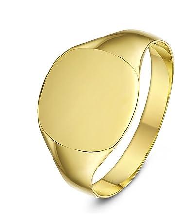 3d6d1e32f7e0e8 Theia 9 ct Yellow Gold, Cushion Shape, Light, Medium or Heavy Weight Signet