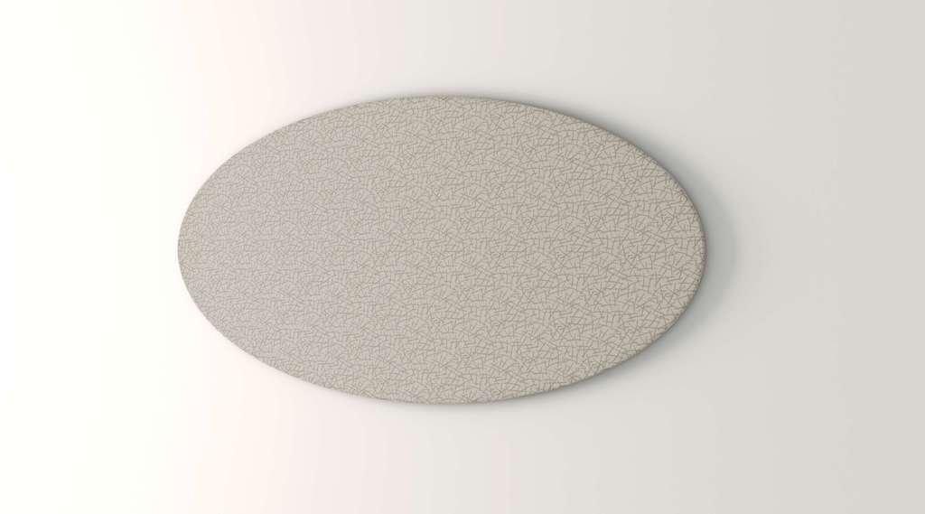Obex 30X60-TB-O-SA 30'' x 60'' Obex Oval Tackboard, Sage, 30'' x 60''