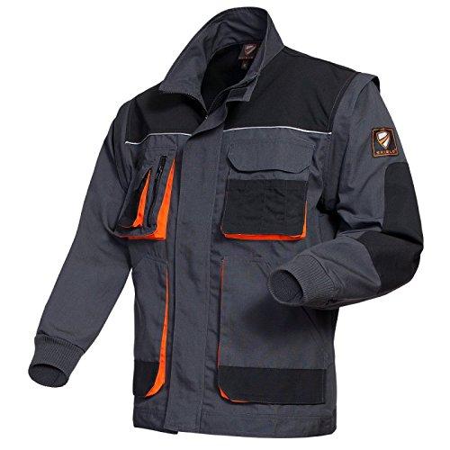 Blouson/ Weste SHIELD Trend , anthra/ schwarz/ orange Gr. M