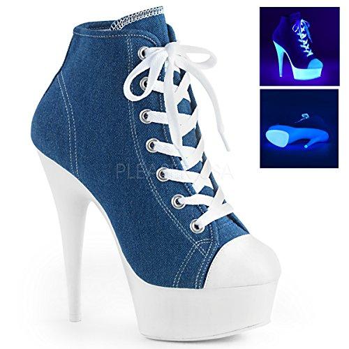 Plateforme Heels Higher Denim Bleu Femme qTxgwCz