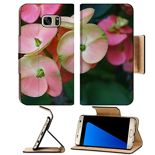 Liili Premium Samsung Galaxy S7 EDGE Flip Pu Leather Wallet Case Euphorbia milii succulent 29125956 - Small Deco Leaf Edge