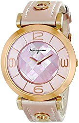 Salvatore Ferragamo Women's FG3030014 GANCINO DECO Stainless Steel Watch With Pink Leather Band