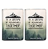 Couple Passport Holder - Personalized Passport Cover - Set of 2 - Wedding Gift