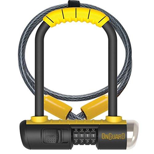 Onguard Bulldog Mini Combo Lock w/ 4' X10mm Cable - yellow, one size (On Guard Mini U Lock)
