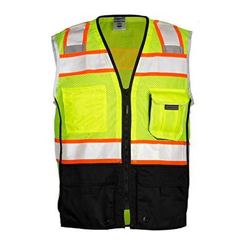 ML Kishigo Class 2 Black Series Vest, Lime, Medium (2 Vest)