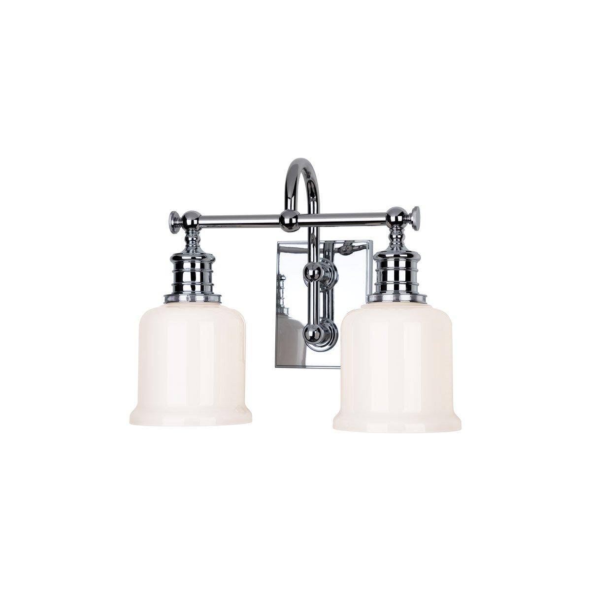 浴室洗面化粧台2ライトwith Polishedクローム仕上げa19電球14インチ200ワット B07DLW3MK8