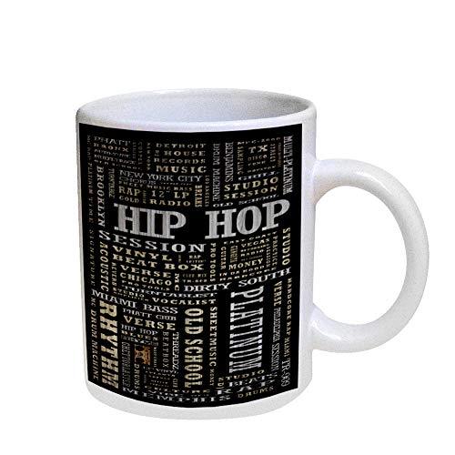 OKSLO Coffee cup mug pearl iridescent white - hip hop platinum Model kk2912