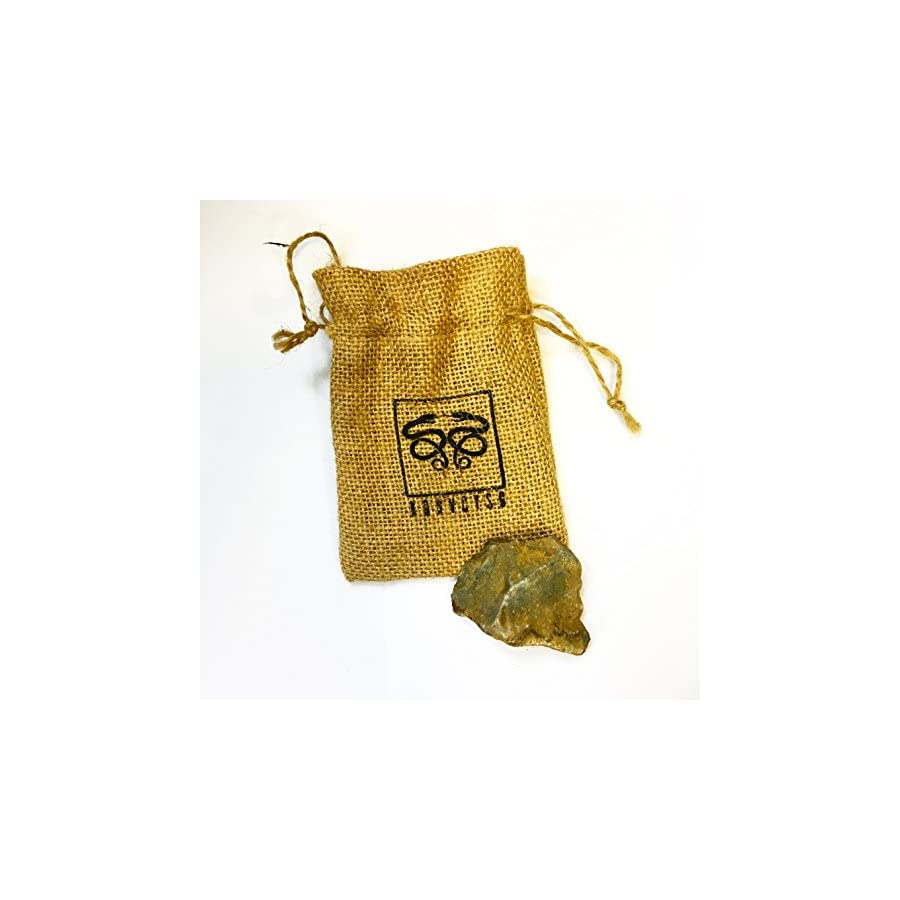 KonvoySG English Flint Stone for Use with A Carbon Steel Striker Comes with an Emergency Tinder Jute Bag